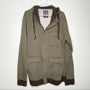 Burton Womenz Hoodie Jacket Plaid Check XL